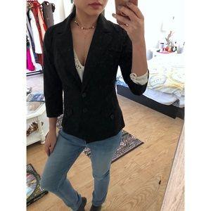 Express black basic blazer